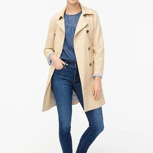 NWT J CREW FCTY Belted Khaki Trench Coat Size 2P